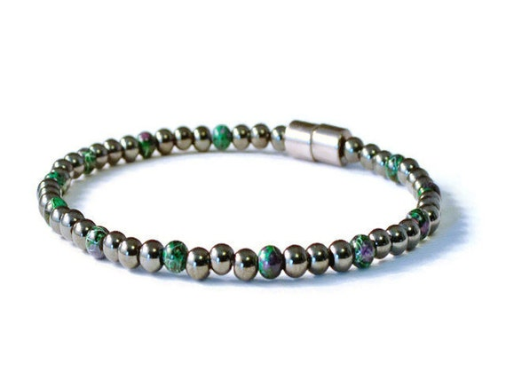 6 sided Magnetic Hematite Necklace Bracelet Anklet African Turquoise Therapeutic