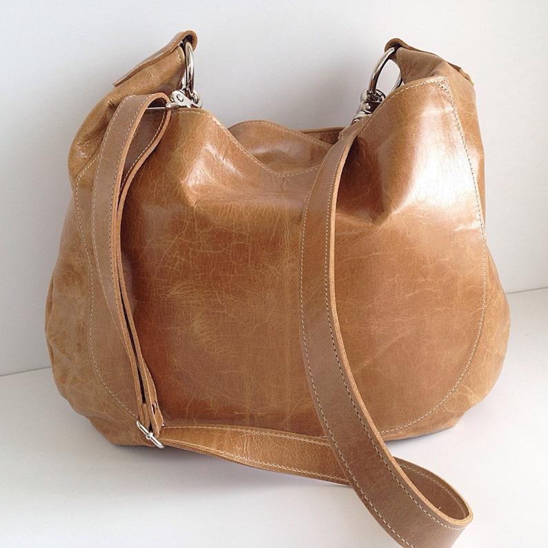 fce0d4edf2ff UMA Leather Hobo Bag Purse Slouchy Leather Crossbody Bag   Etsy