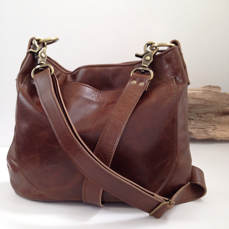 UKSANA Leather Hobo Bag Brown Leather Crossbody Leather  173230bcc4de5