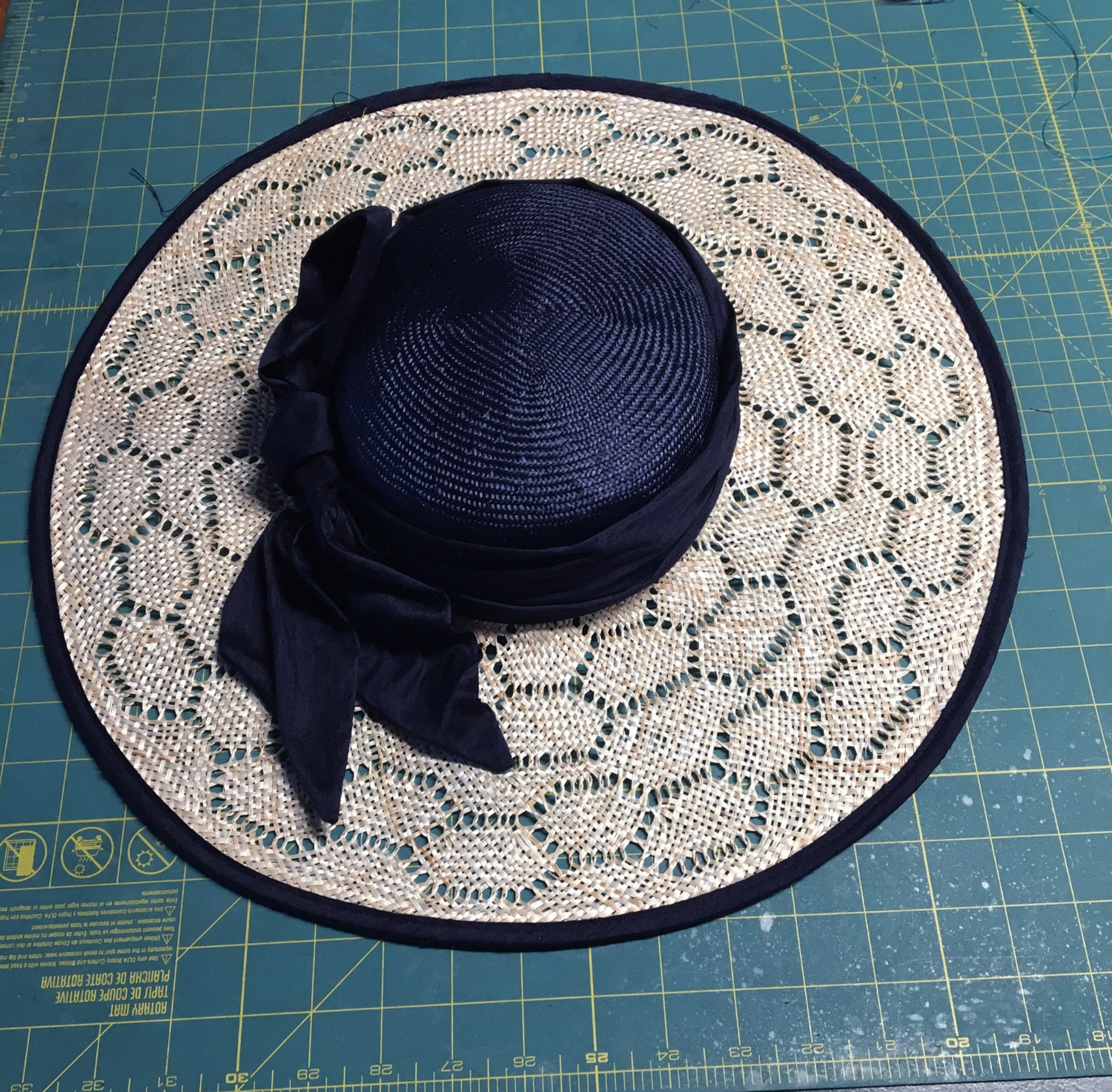 Maria Kentucky Derby Hat Beautiful Boater Style Straw Hat With