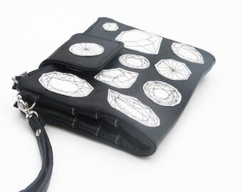 women's wallet leather travel wallet black carryall wallet clutch iphone 7 wallet wallet geometric wallet leather purse
