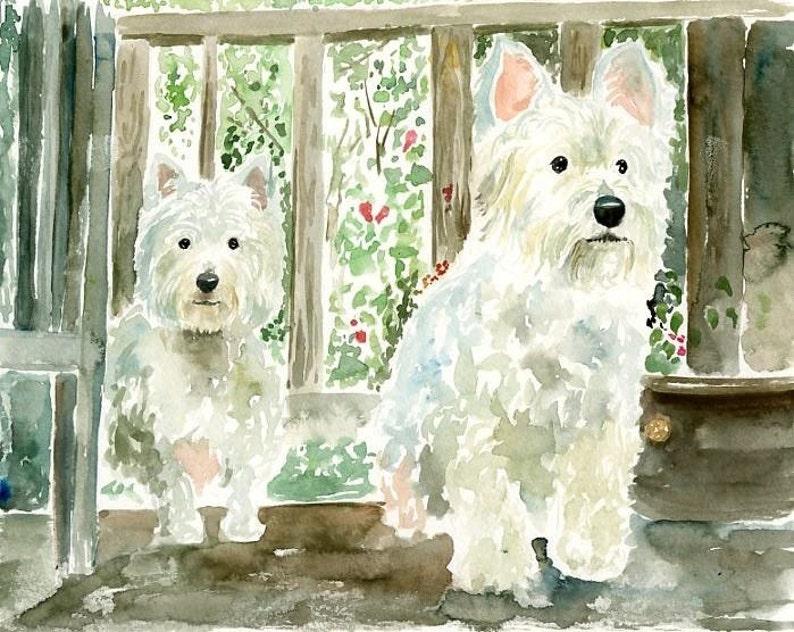 CUSTOM couple pet Custom pet portrait painting Pet portrait image 0