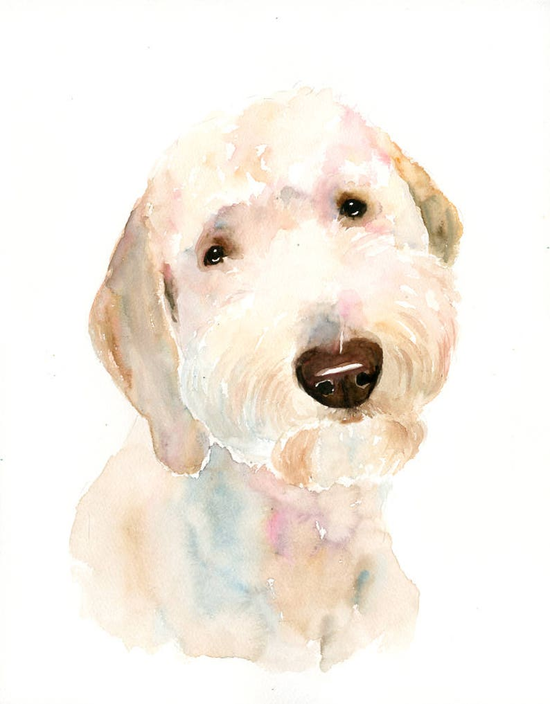 Custom pet portrait Pet portrait memorial custom dog portrait image 2