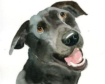 Pet portrait custom Dog portrait custom Pet portrait watercolor Dog memorial Custom dog portrait Original watercolor painting 8X10inch