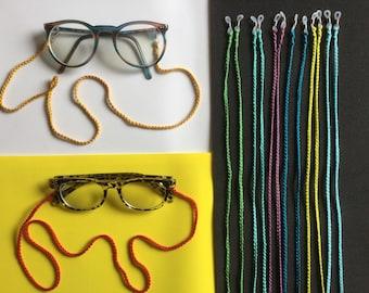Handmade Crochet Glasses Chain, Spectacles, Colourful, Lanyard