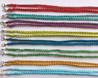 Handmade Crochet Face Mask Chain, Lanyard, Colourful