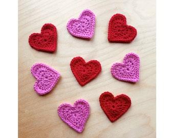 Handmade Crochet Heart Brooch