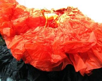 e20fc9eee53d Choice Vintage Rockabilly Petticoat / Crinoline / CanCan / Layered Tulle,  Half Slip, Black or Orange, Square Dance Slip, Very Full
