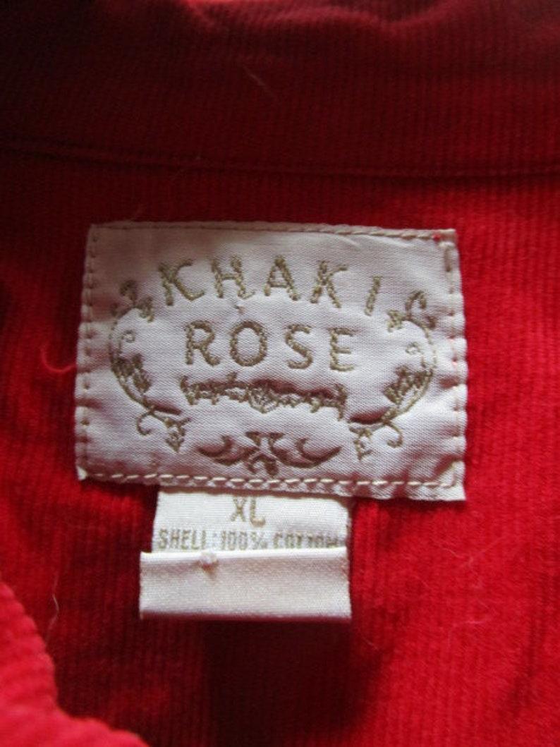 Hearts Stars Flowers Vintage Corduroy Jacket w Appliques by Khaki Rose Soft Casual Comfortable Elementary Art Teacher Costume Size XL