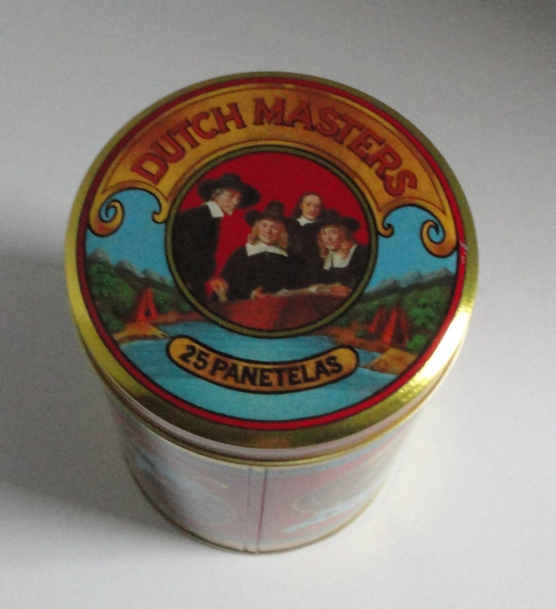 Dutch Masters Cigars Tin can  25 Panetelas  Cigar metal box