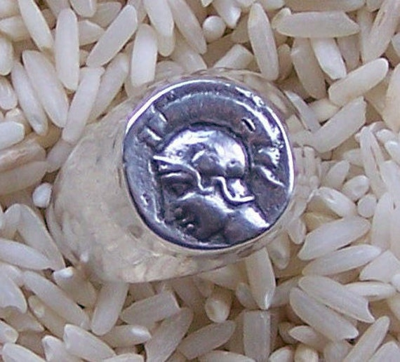 Ancient Coin Ring Replica of Athena