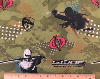 1 yard GI Joe Pillow Panel Fabric