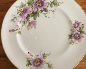 Vintage Royal Doulton Bone China Plates Passion Flowers
