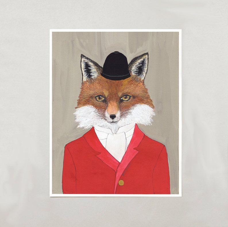 Art Print  Red Fox  Signed by Artist  3 Sizes  S/M/L image 0
