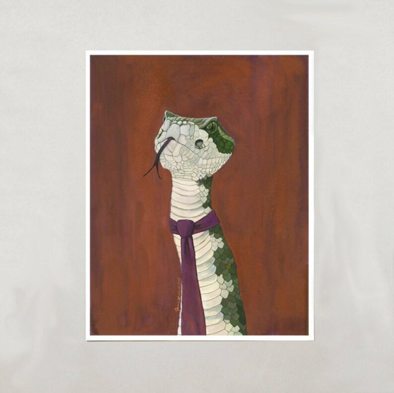 Art Print  Rattlesnake  Signed by Artist  3 Sizes  S/M/L image 0