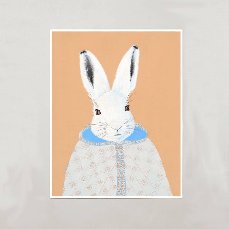 Art Print  Arctic Hare  4 Sizes  S/M/L/XL image 0
