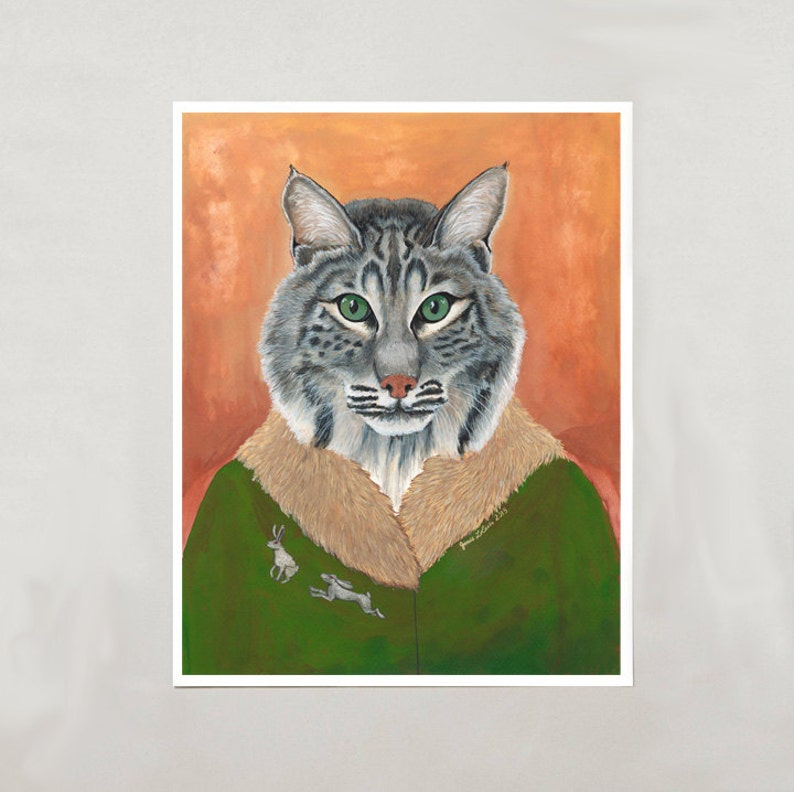 Art Print  Bobcat  Signed by Artist  3 Sizes  S/M/L image 0