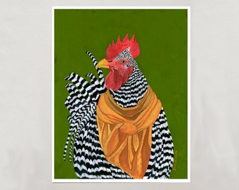Art Print - Rooster - Signed by Artist - 4 Sizes - S/M/L/XL