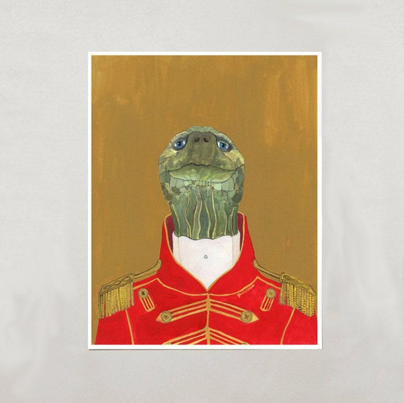 Art Print  Tortoise  Signed by Artist  3 Sizes  S/M/L image 0