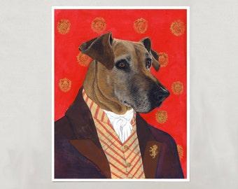 Art Print - Rhodesian Ridgeback - Signed by Artist - 3 Sizes - S/M/L
