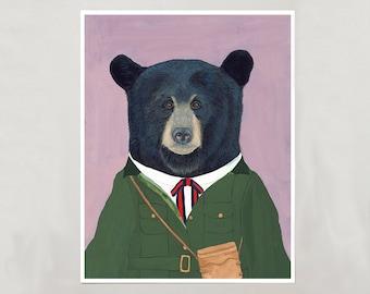 Art Print - Black Bear - 4 Sizes - S/M/L/XL