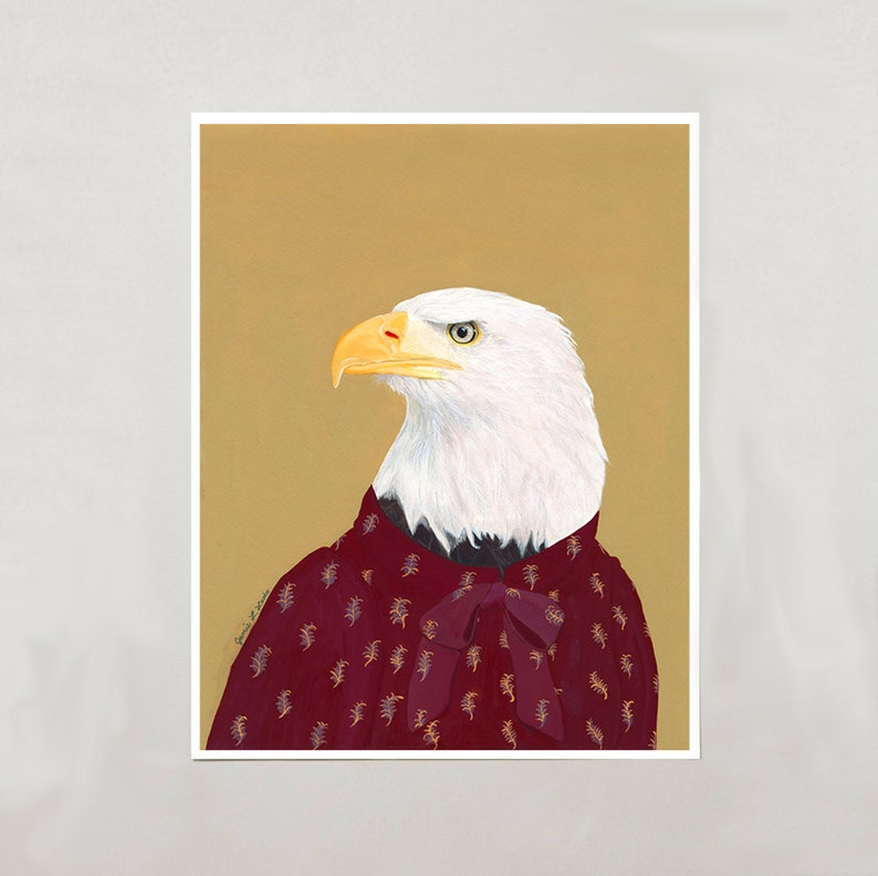 Art Print  Bald Eagle  4 Sizes  S/M/L/XL image 0