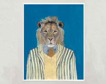 Art Print - Lion - Signed by Artist - 4 Sizes - S/M/L/XL