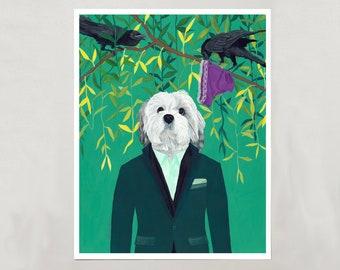 "Art Print - Cavapoo ""Beau"" - Signed by Artist - 4 Sizes - S/M/L/XL"