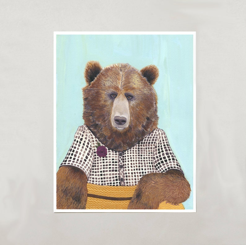 Art Print  Grizzly Bear  Signed by Artist  4 Sizes  image 0
