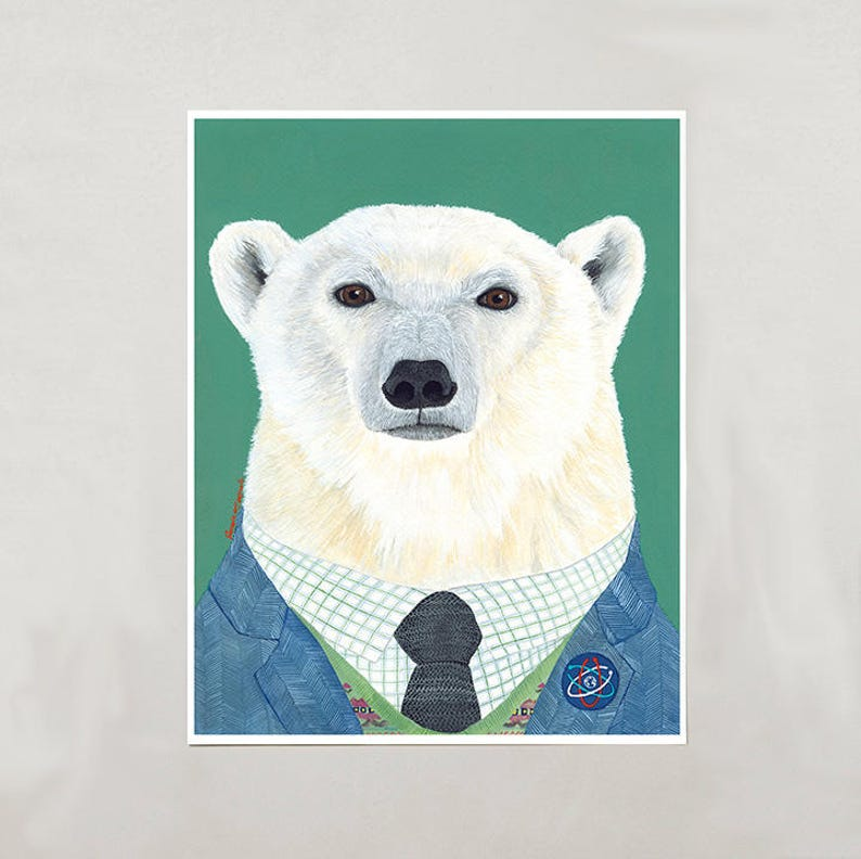 Art Print  Polar Bear  Signed by Artist  3 Sizes  S/M/L image 0