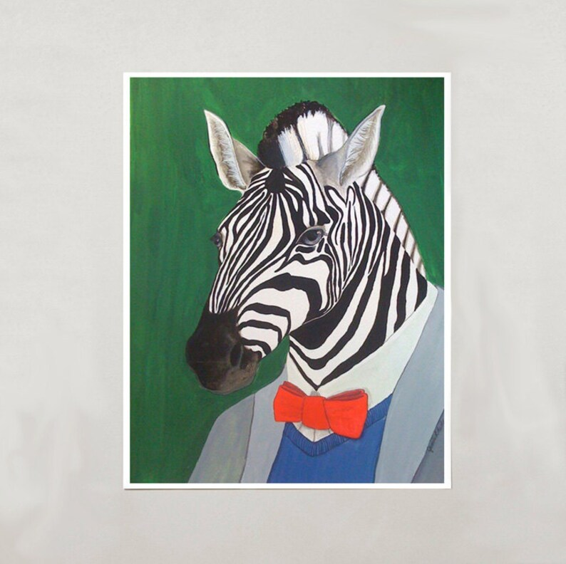 Art Print  Zebra  4 Sizes  S/M/L/XL image 0