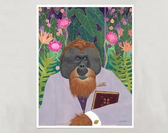 Art Print - Orangutan - 4 Sizes - S/M/L/XL
