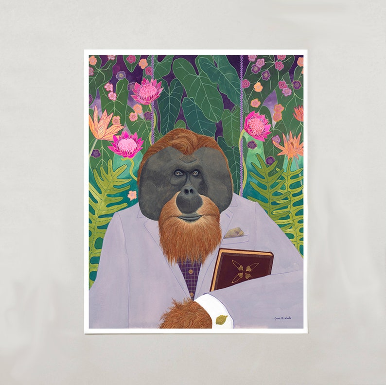 Art Print  Orangutan  4 Sizes  S/M/L/XL image 0