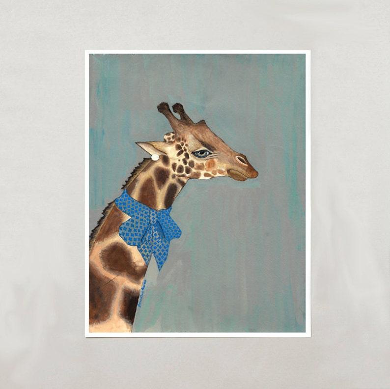 Art Print  Giraffe  Signed by Artist  3 Sizes  S/M/L image 0
