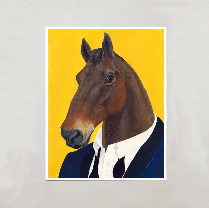 Art Print  Horse  Signed by Artist  4 Sizes  S/M/L/XL image 0