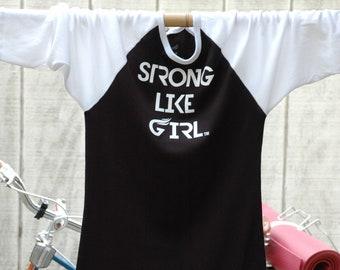 Strong Like Girl Baseball T
