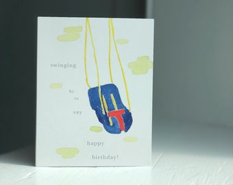 Swing Birthday Card