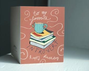 Introvert's Birthday Card