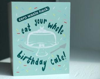 Zero Waste Birthday Card