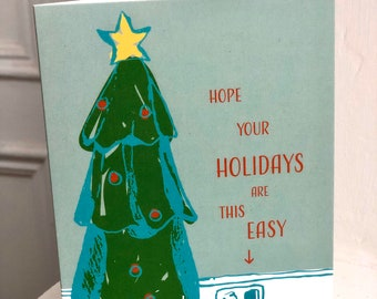 Easy Holiday Wishes Card