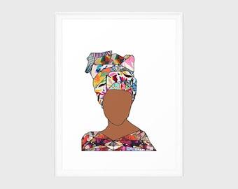 Woman in Colors - Galvez - Print