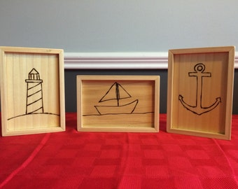 Nautical Theme Wall Art - Set of 3