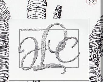 Wedding monogram Calligraphic (TM)