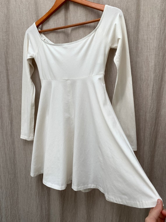 Vintage 1980's Norma Kamali Disco Mini Dress with… - image 6