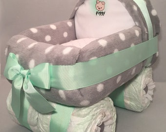 Carriage diaper cake Etsy