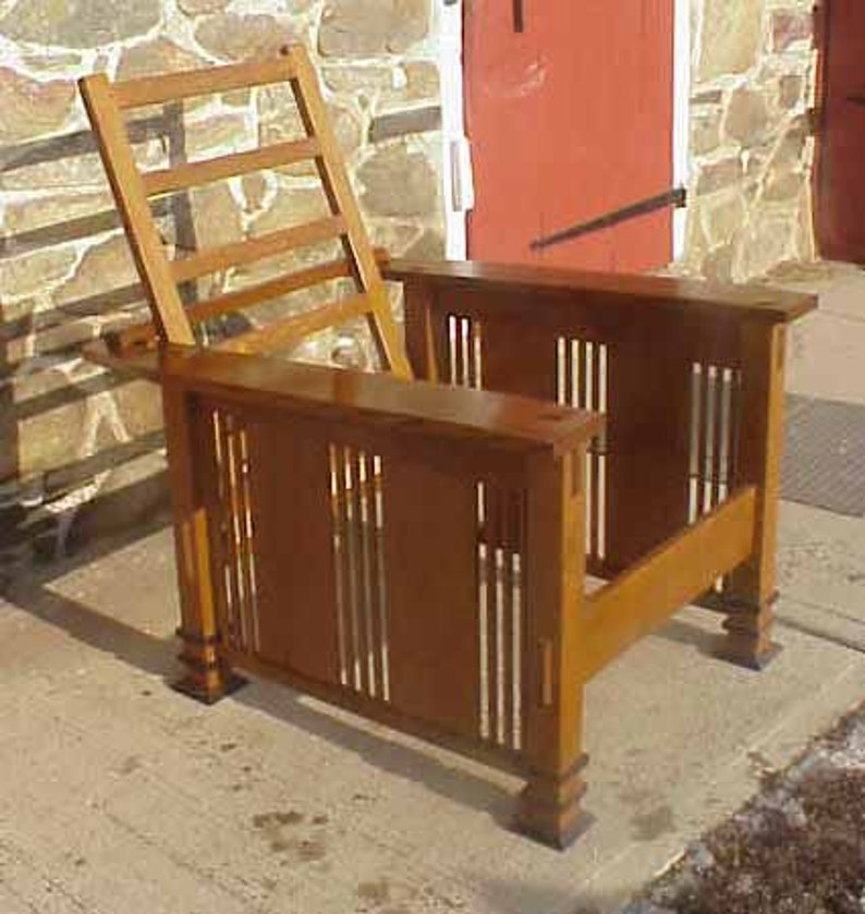 image 0 ... & Prairie Style Slant Arm Morris Chairs | Etsy