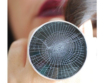 Dollybird Preserved Spider Web Ring 2 inch