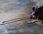 Raw Amethyst Crystal Slide Necklace Adjustable
