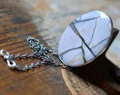 Marble Patterned Statement Pendant Bracciated Willow Creek Jasper