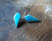 Turquoise Dagger Studs